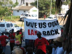 Give Us Our Land Back, 2005. Courtesy of; Abahlali baseMjondolo.