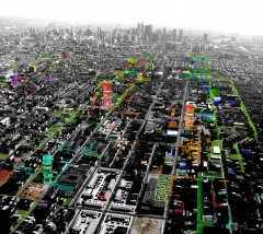 Urban voids,  Philadelphia. Strategy for the self reparation of the urban tissue. Image: Ecosistema Urbano
