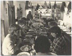 Community meal in the early days of the centre. Courtesy: CAT