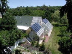 Alchemy Farms, restored PEI ark with attached solar house. Courtesy: John Todd.