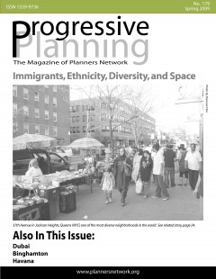 Progressive Planning magazine, spring 2009 cover. Image: Planners Network