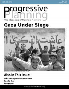 Progressive Planning magazine, summer 2009 cover. Image: Planners Network