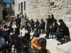 Children's event at Al-Taybeh, Palestine. Photo: Riwaq