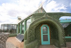 Entrance to Phoenix earthship. Photo: Kirsten Jacobsen