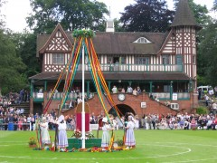 Maypole dance at Bournville. Photo: Andrew Clayton