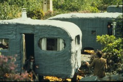 Caravans sprayed with insulation serving as site offices. Courtesy: CAT
