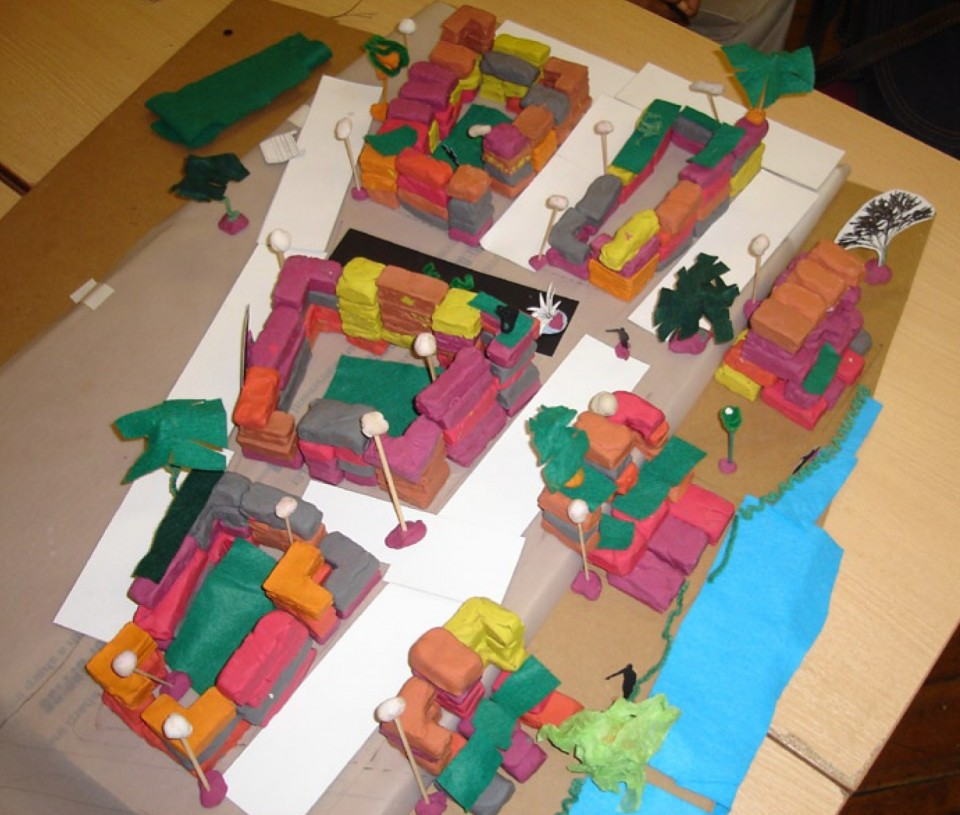 Plasticine Model Of Neighbourhood Used In The Homes By Design Training  Course. Courtesy: Urbed