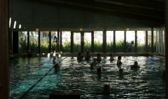 Refurbishment and extension of an indoor swimming pool at Begles. Photo: C. Petcou