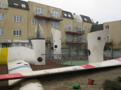Wikado playground in Rotterdam made from discarded wind turbine blades. Photo: Carolyn Butterworth
