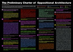 The Preliminary Charter of Oppositional Architecture, Berlin-Wedding 2004-2005.